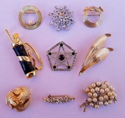 $ CDN9 • Buy Lot Of Vintage Costume Jewelry Brooches And Pins D