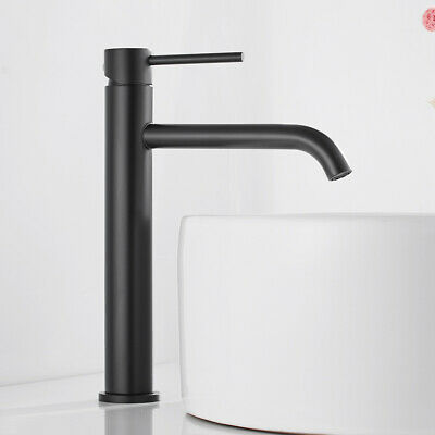Bathroom Basin Mixer Taps Faucet Tall Counter Top Cloakroom Tap Stainless Steel • 25.89£