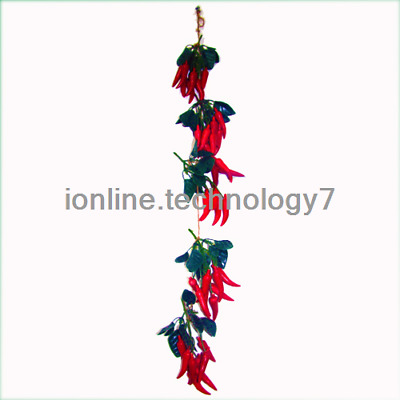 2x Artificial String Faux Chillie Fake Fruit House Kitchen Party Decor Wedding  • 5.99£