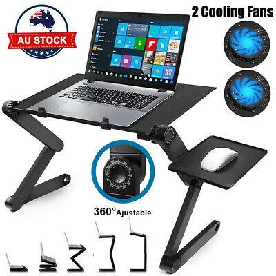 AU26.99 • Buy Foldable Laptop Stand Portable Adjustable Table Bed Sofa Desk Mouse Pad Tray