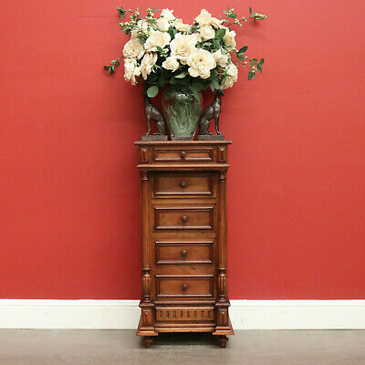 AU650 • Buy Antique Bedside Tables, Antique French Side Cabinet Lamp Table, Chest Of Drawers