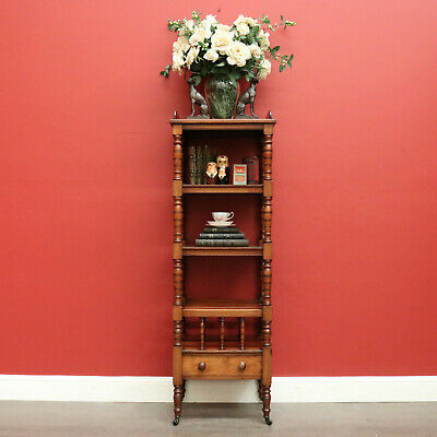 AU1250 • Buy Antique English Walnut Music Canterbury Open Bookcase Combination Display Stand