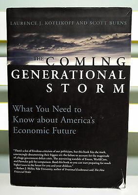 AU40.99 • Buy The Coming Generational Storm! HB / DJ Book By Laurence J. Kotlikoff!