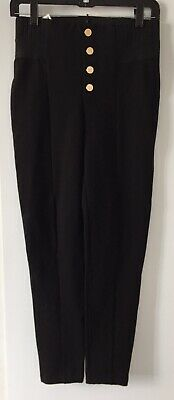 $23.99 • Buy NWT ZARA Black LEGGINGS WITH GOLD BUTTONS  Elastic Waist Is 32'' Size XL 3337