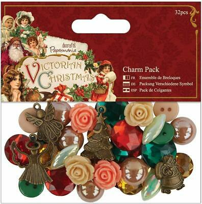 £3.99 • Buy Papermania Victorian Christmas Charm Pack - 32pcs