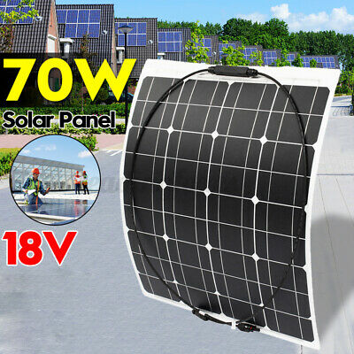 5/12/18V 30/40/50/70W Solar Panel Battery Charger Controller RV Boat Motorhome • 24.15£
