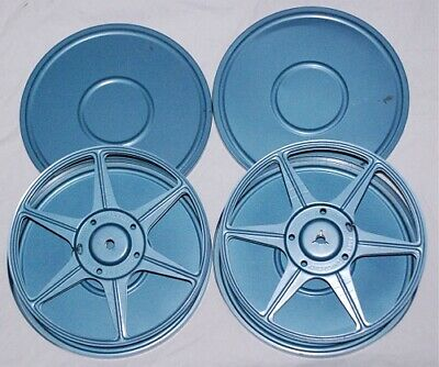 $ CDN32.10 • Buy 2 Vintage Blue Metal Compco Corp 8mm Film Reel Canisters 7 Inch Chicago U.S.A.