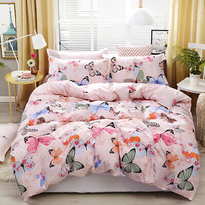 AU28 • Buy All Size Bed Ultra Soft Quilt Duvet Doona Cover Set Bedding Pillowcase Butterfly
