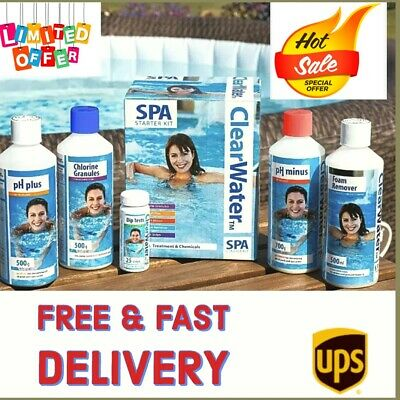 ‼️ClearWater SPA Starter Kit ‼️Treatment And Chemicals For SPA HOT TUB POOL • 46.99£