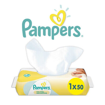Pampers New Baby Sensitive Wet Wipes 50 Pack Perfume Free PH Balanced Gentle • 4.99£
