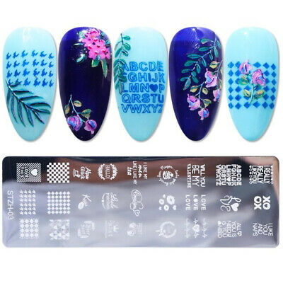 $3.23 • Buy Nail Art Stamping Template Image Plate Hearts XOXO Lacy Pattern Mixed Designs