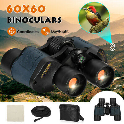 60x60 Day/Night Military Army Zoom Powerful Binoculars Optics HD Hunting Camping • 19.99£