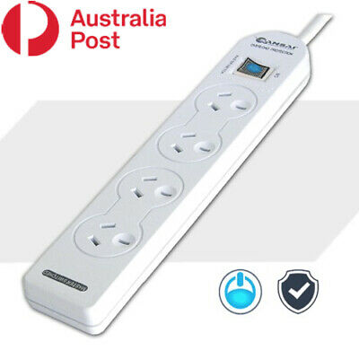 AU13.95 • Buy 4 Outlet Power Board Powerboard With Master Switch