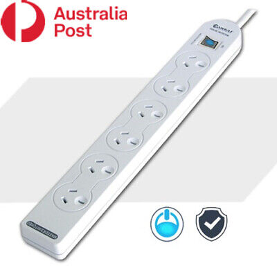 AU17.95 • Buy 6 Outlet Power Board Powerboard With Master Switch