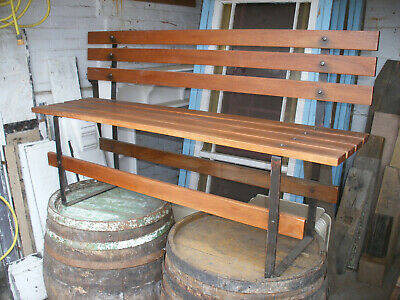 Attractive Mahogany And Wrought Iron Bench  • 150£