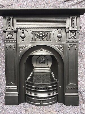 Cast Iron Victorian Style Fireplace / Fire Surround, Restored, Uk Delivery • 420£