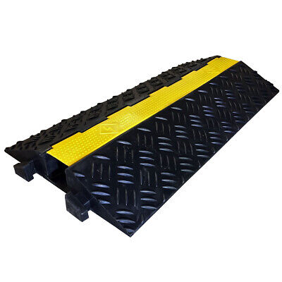 £155.73 • Buy 1 Channel Extreme Rubber Cable Protector - 2 Size Options - Yellow & Black