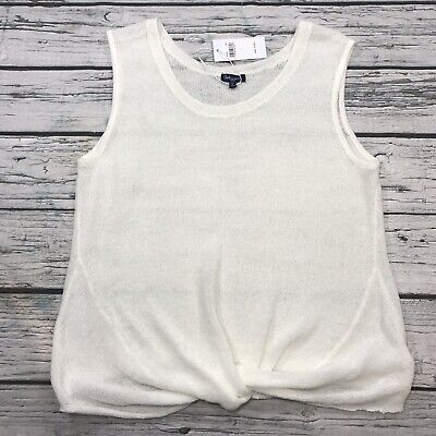 $ CDN47.61 • Buy Anthropologie Splendid Top Tank Womens Size L White Twist Knot Sleeveless NEW
