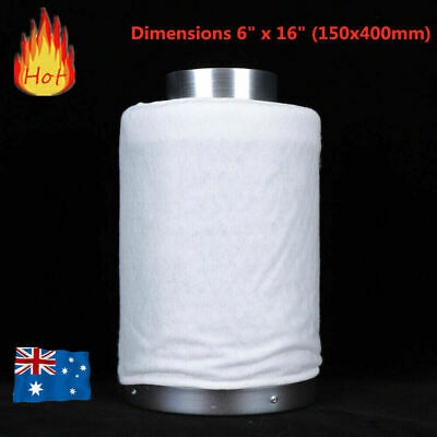 AU94.12 • Buy Hydroponics 6  /150mm Activated Carbon Filter For Grow Tent Duct Ventilation Fan