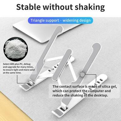 AU18.89 • Buy Laptop Stand Notebook Table Foldable Portable Tray Lazy Computer Desk Adjustable