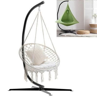 Durable C-Stand For Hanging Hammock Swing Chairs Black Powder-Coated Steel Frame • 99.95£