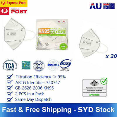 AU19.99 • Buy 100x Disposable Medical Surgical 3 Filter Layer Anti Bacterial Face Mask CE