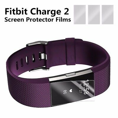$ CDN7.33 • Buy New 3x TPU Clear Screen Protector Shield Guard For Fitbit Charge 2 Fitness  Z