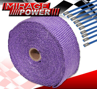 $ CDN32.47 • Buy 360  30Ft Heat Wrap Shield Insulation Reduction Down Header Test Pipe Cat Purple