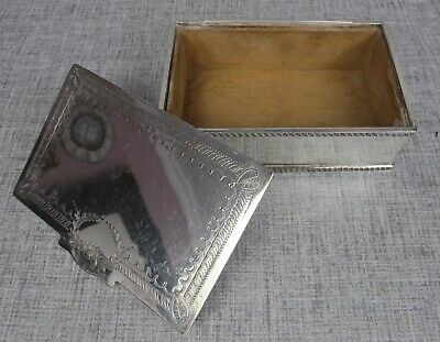 Superb Vintage Silver Plated Lidded Viners Of Sheffield Cigarette/Jewellery Box. • 9.99£