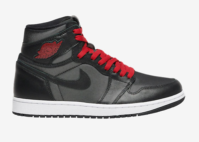 $101 • Buy 🔥🔥nwb Air Jordan Retro 1 High Og Black Metallic Silver Gym Red 10.5 10 1/2🔥