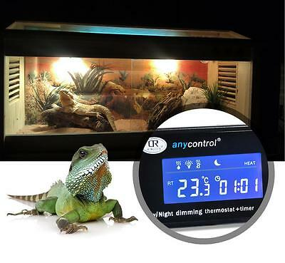 AU50.22 • Buy Dimming Reptile Digital Day & Night Thermostat With Timmer Heat PID Snake Lizard