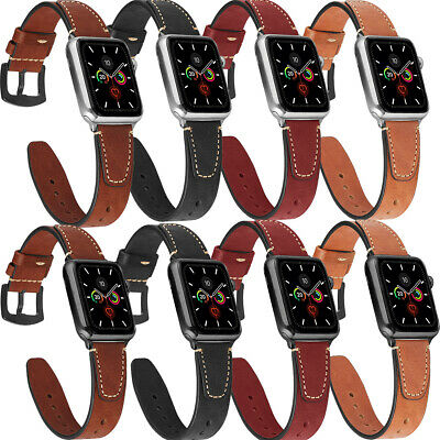 $ CDN18.21 • Buy 40/44mm Genuine Leather For Apple Watch Band Strap For IWatch Series 5-1 38/42mm