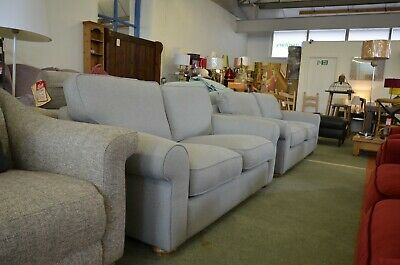 John Lewis Sofas 2 And 3 Seater Sofa Two Piece Suite Set Pale Grey Fabric • 1,799£