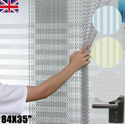 Aluminium Chain Metal Door Curtain Strip Fly Pest Insect Blinds Screen UK Stock • 23.99£