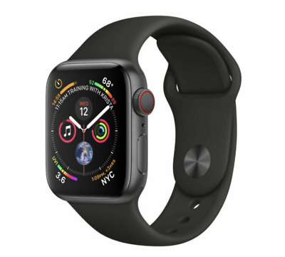 $ CDN321.42 • Buy Apple Watch Series 4 44mm Space Gray Aluminum GPS/Cellular Black Band Warranty