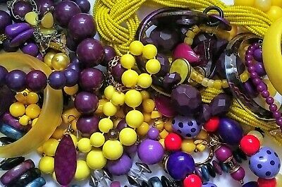 $ CDN49.99 • Buy Vintage To Now Large Jewelry Lot Wear Resell Sterling Chunky Retro Nice No Junk