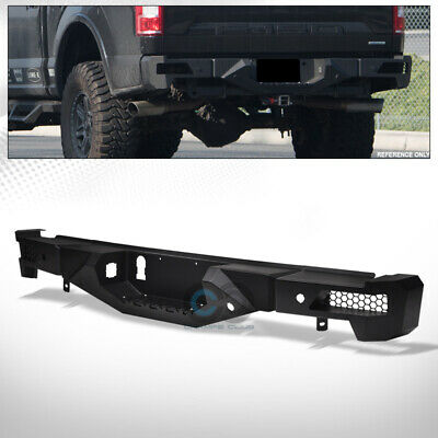 $528.95 • Buy Fit 15-18 Ford F150 Black RT Style Off-Road Modular Full Width Steel Rear Bumper