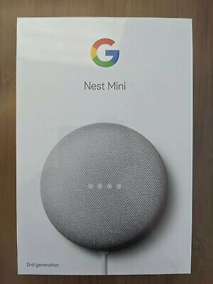 AU33 • Buy Google Nest Mini (2nd Generation) Smart Speaker - Chalk Brand New In Box