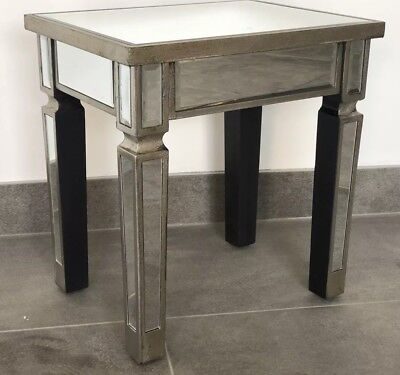 Pair Venetian Mirror Table Side Tables / Bedside Table / Lamp Table End Tables • 124.95£