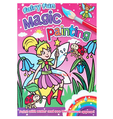 Fairy Fun Magic Painting Colouring Book Kids Girls No Mess Just Use Water    • 3.79£