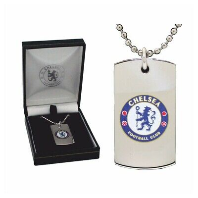 Chelsea Football Club Crest Stainless Steel Dog Tag Pendant, New In Gift Box • 14£