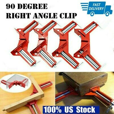 $16.99 • Buy 4PCS 90° Right Angle Clamp Photo Frame Corner Clip Metal Handle Woodworking Tool