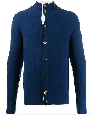 New N.Peal  Men's Cardigan Sweater 100% Cashmere • 291.33£