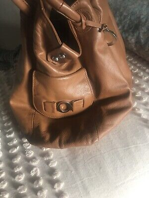 AU41 • Buy Oroton Brown Leather Handbag Tote Shopper Large In Excellent Condition
