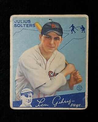 $9.38 • Buy 1934 Goudey Moose Solters Baseball Card #30  Boston Red Sox  GD / VG
