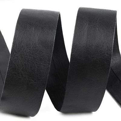 Faux Leather Bias Binding Tape Trim Black 1 Metre X 30 Mm Upholstery Bags Books  • 3.90£