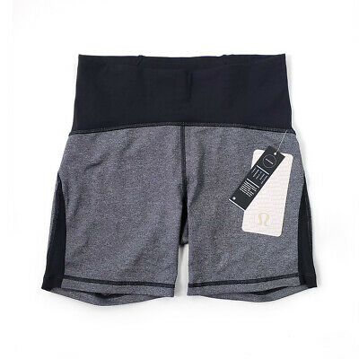 $ CDN79 • Buy NWT [Size 8] Lululemon Womes Train Times Short 6  HBLK/BLK With Shopping Bag