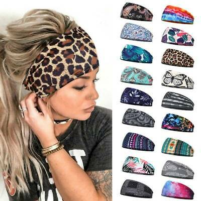 $2.19 • Buy Women Wide Sport Yoga Headband Hairband Elastic Wrap Turban Stretch Hair Band