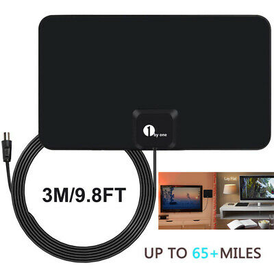 2020 Best 1byone 75 Mile Paper Thin Indoor HDTV Aerial Digital Freeview Antenna • 10.99£