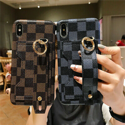 AU13.99 • Buy For IPhone 11 Pro Max XR 8 7 Plus Wrist Strap Card Holder PU Leather Case Cover